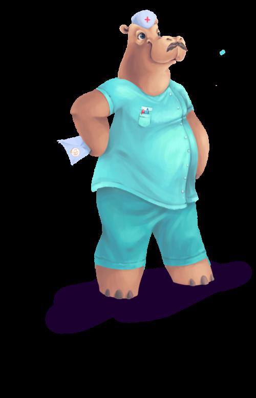 Infirmier-hippo